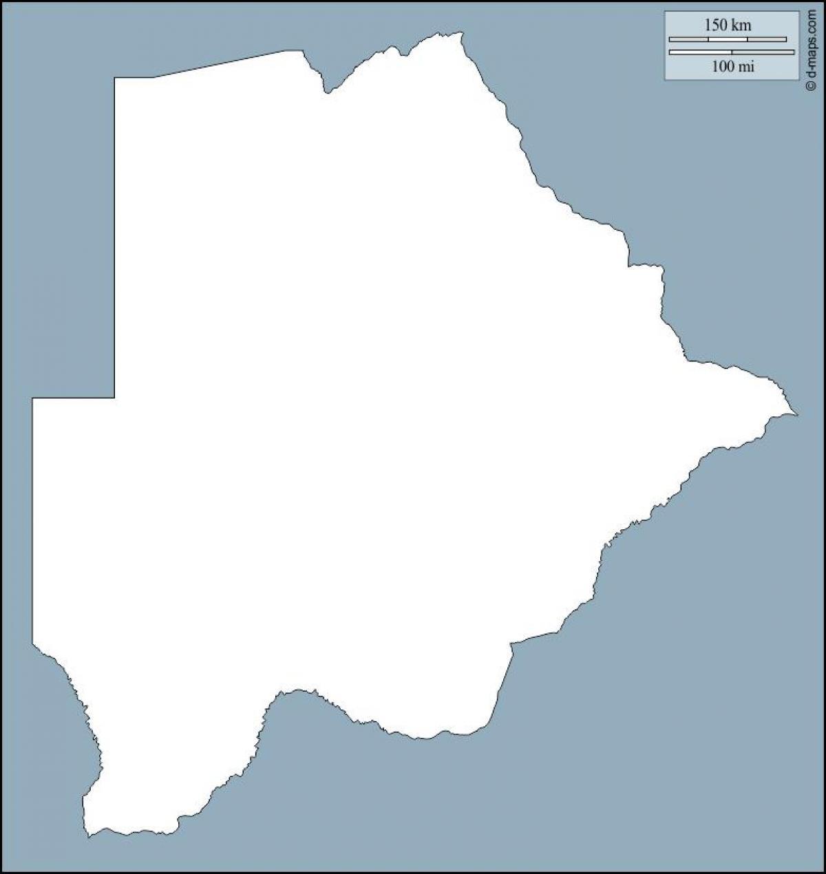 Botswana Kort Skitse Kort Botswana Kort Oplaeg Det Sydlige